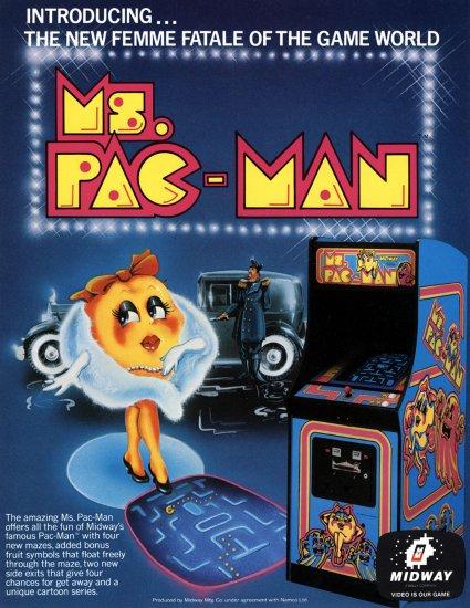 affiche de Ms pacman